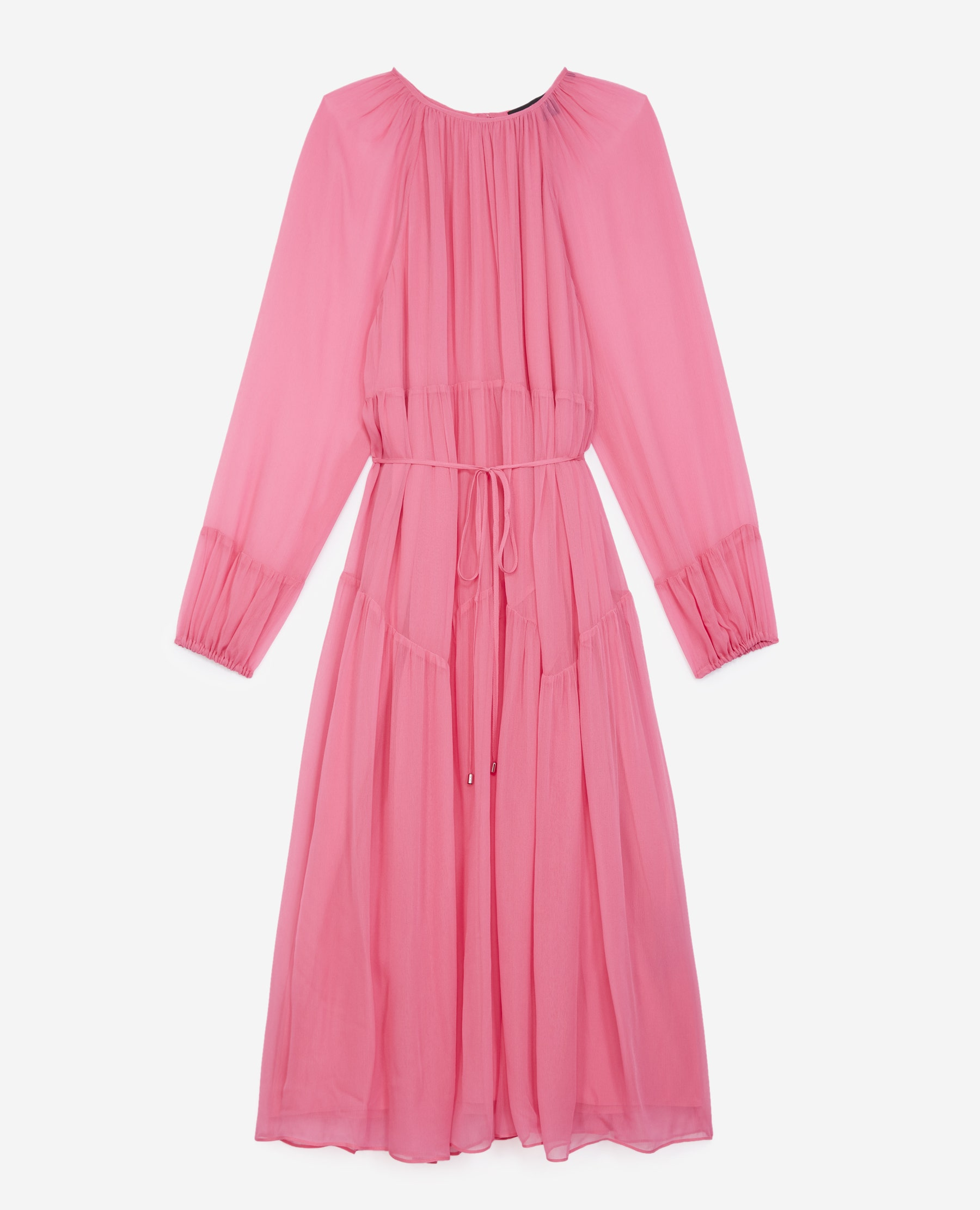 Robe longue rose vif fluide - The Kooples - Modalova
