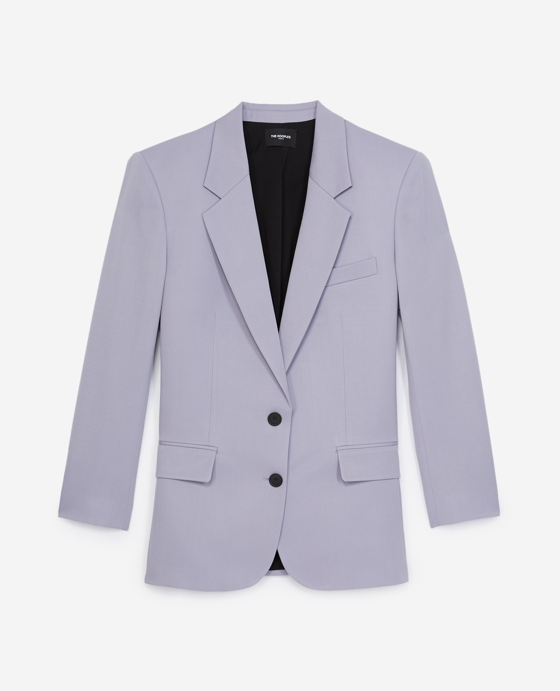 The Kooples - Lilac jacket with lapels and pockets - WOMEN