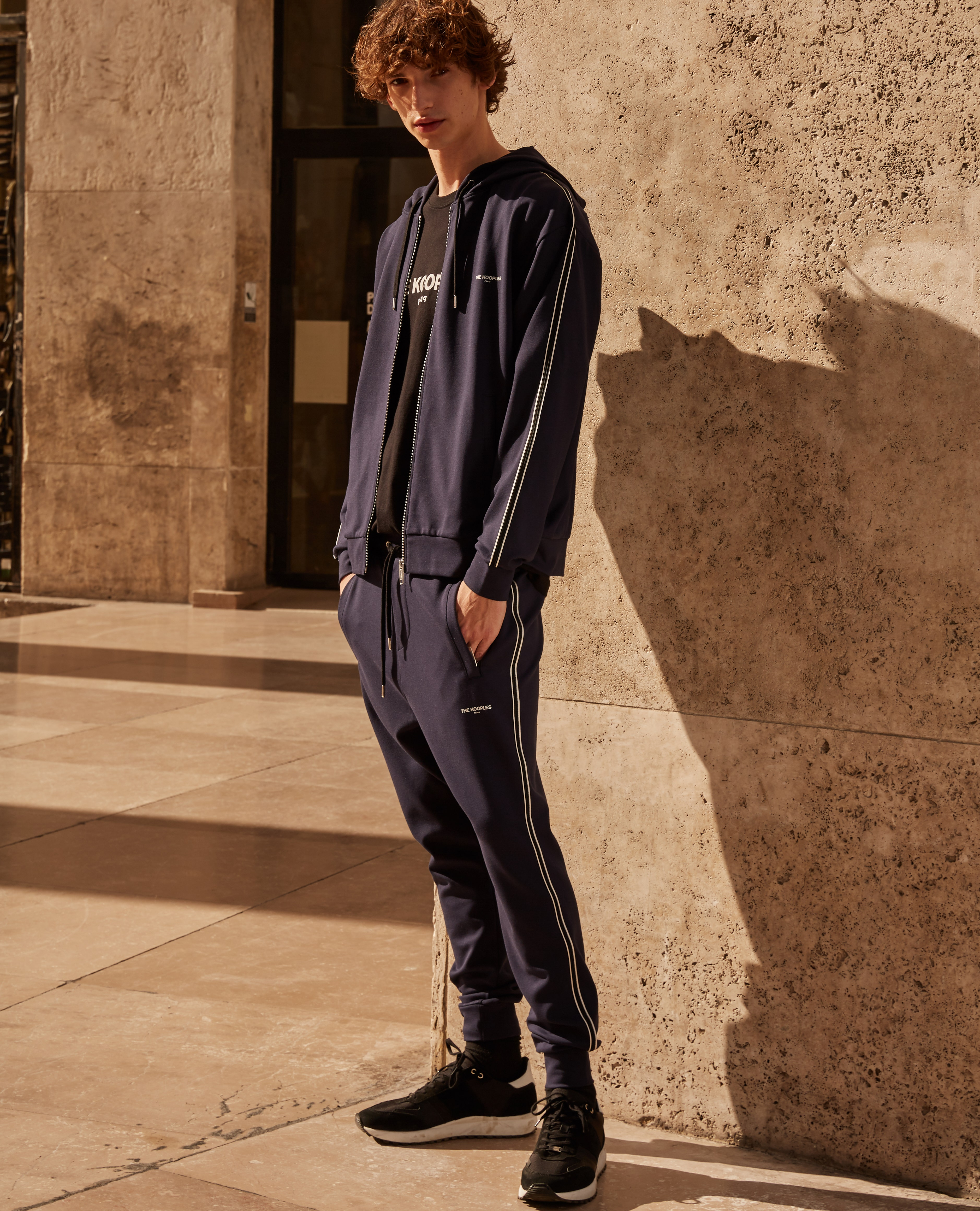 The Kooples - Midnight blue slim fit joggers - HOMBRE