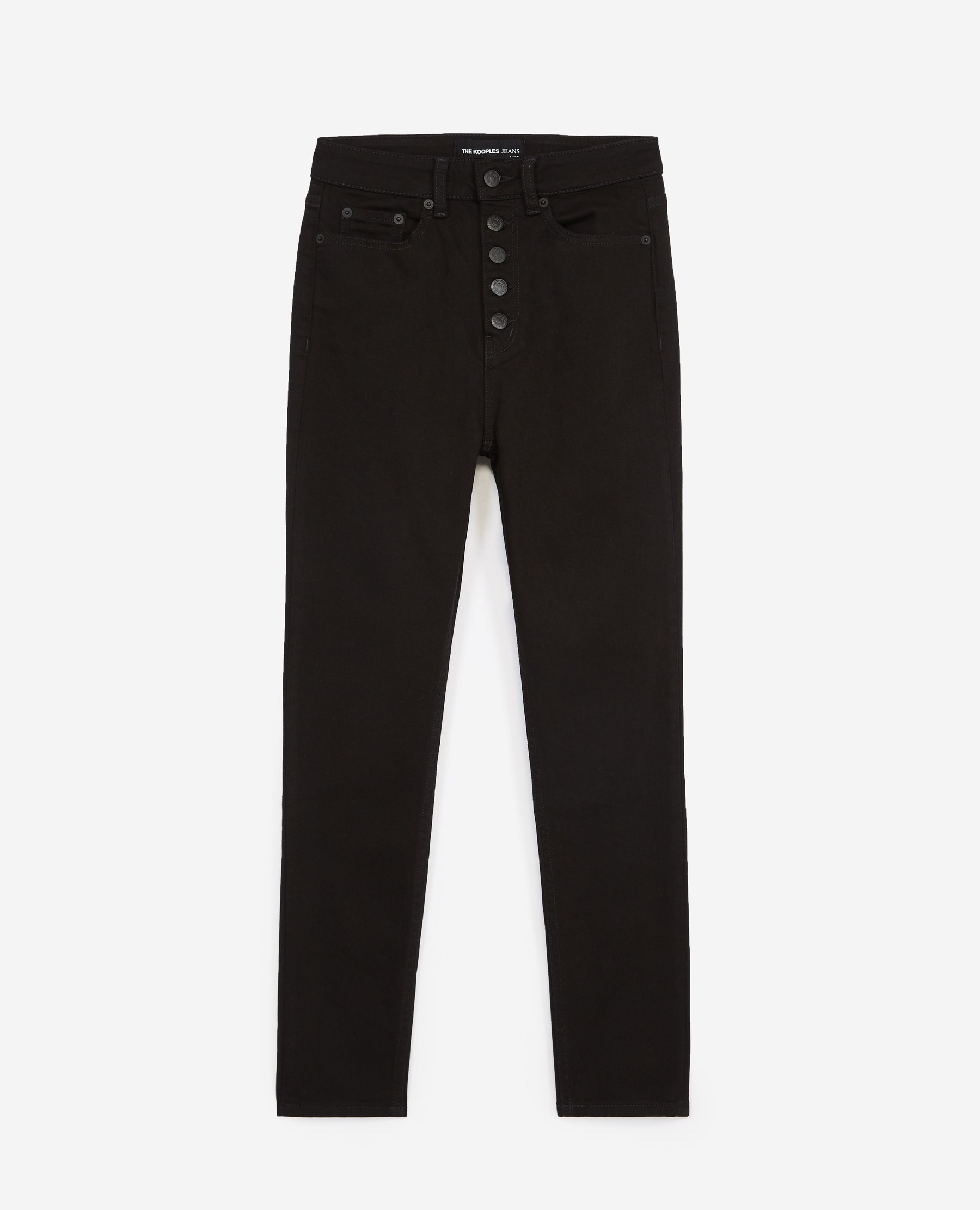 Jean noir boutons slim - The Kooples - Modalova