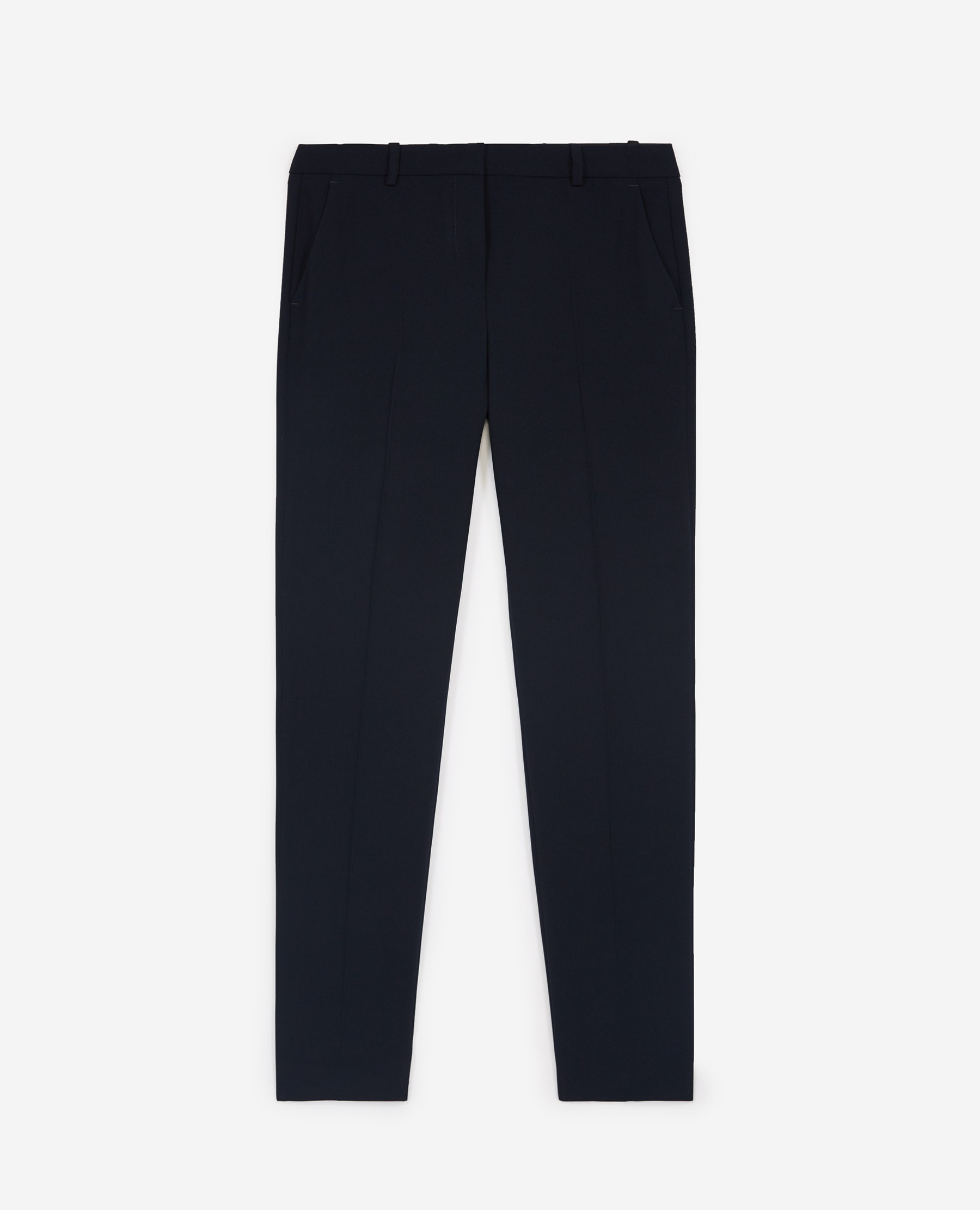 Pantalon fluide bleu marine costume - The Kooples - Modalova