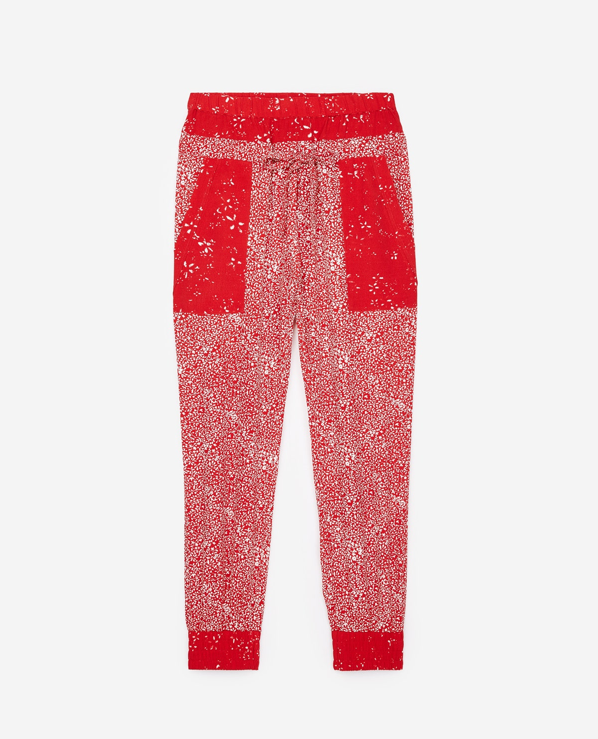 The Kooples - Moonflowers flowing red trousers - MUJER