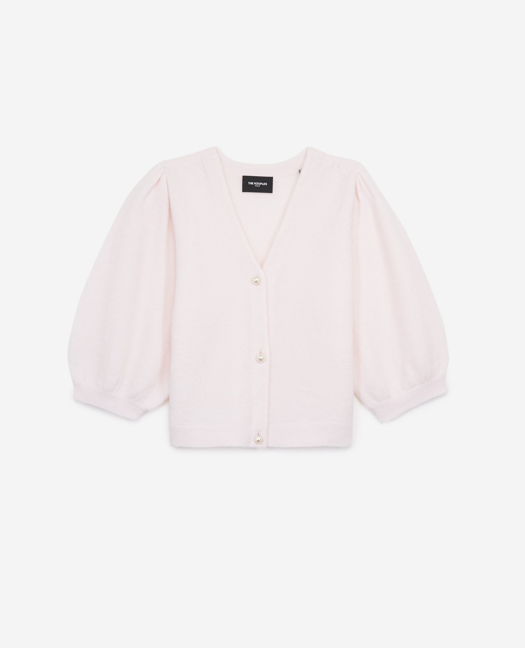 Cardigan maille manches courtes rose - The Kooples - Modalova