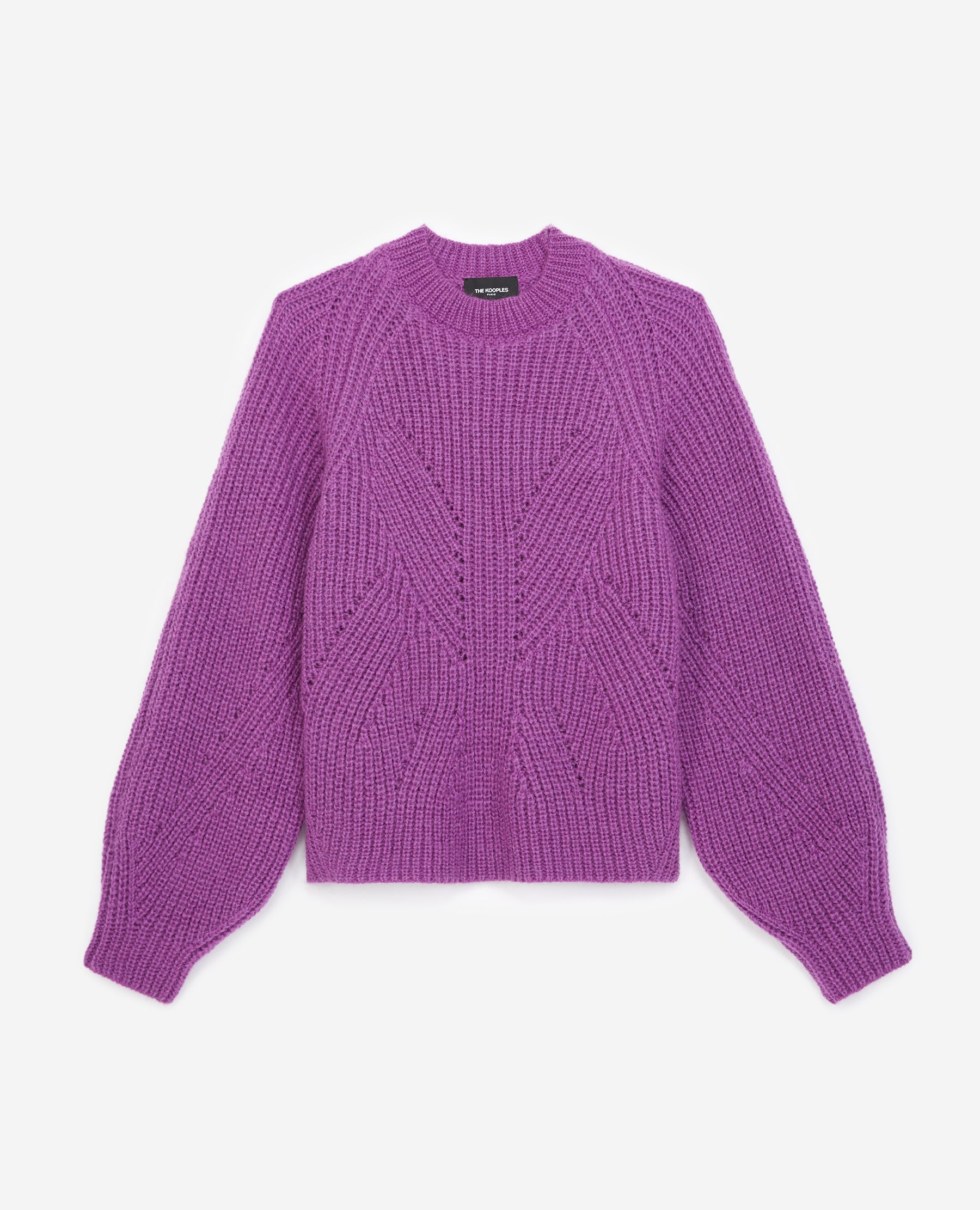 Pull maille violet à manches bouffantes - The Kooples - Modalova