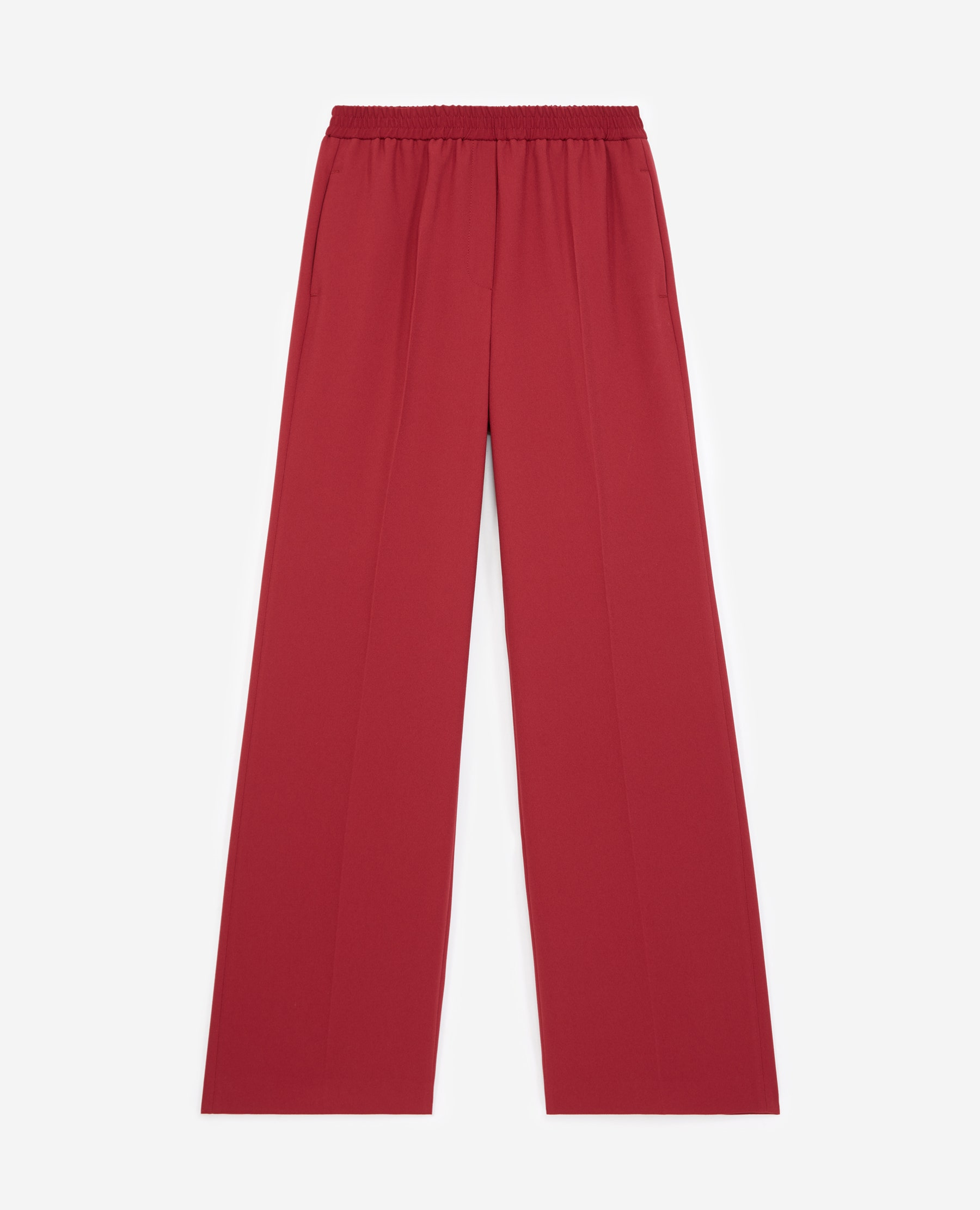 Pantalon costume bordeaux tissu fluide - The Kooples - Modalova