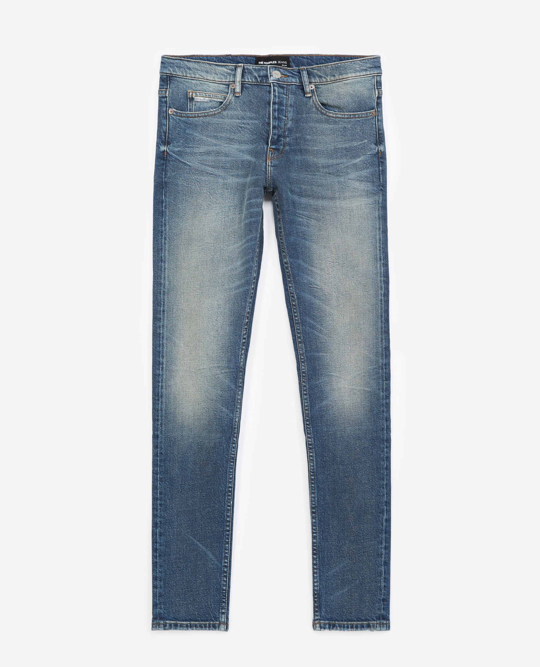 Jean slim bleu délavé coton stretch - The Kooples - Modalova