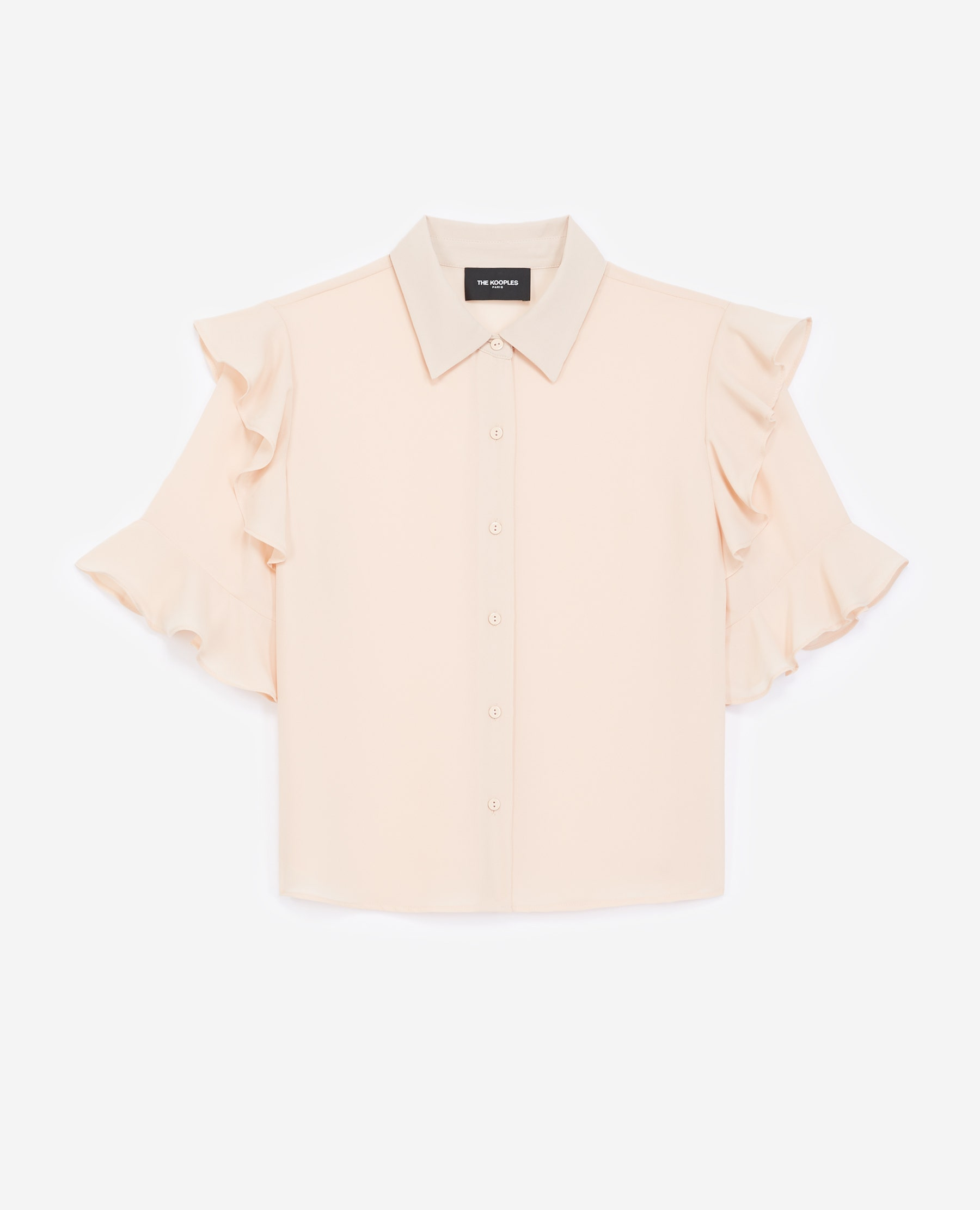 Chemise rose manches courtes volants - The Kooples - Modalova