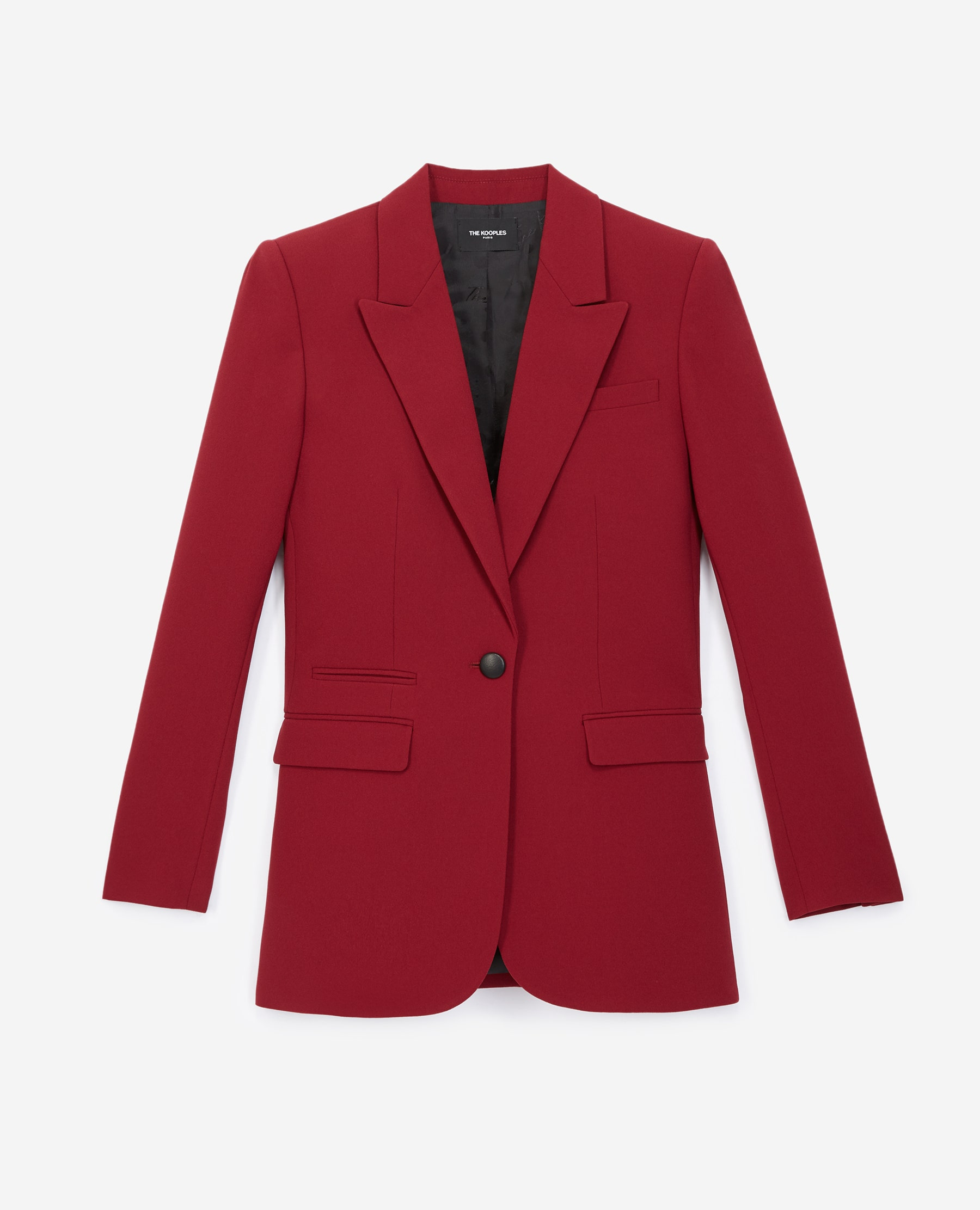 Veste costume crêpe bordeaux - The Kooples - Modalova
