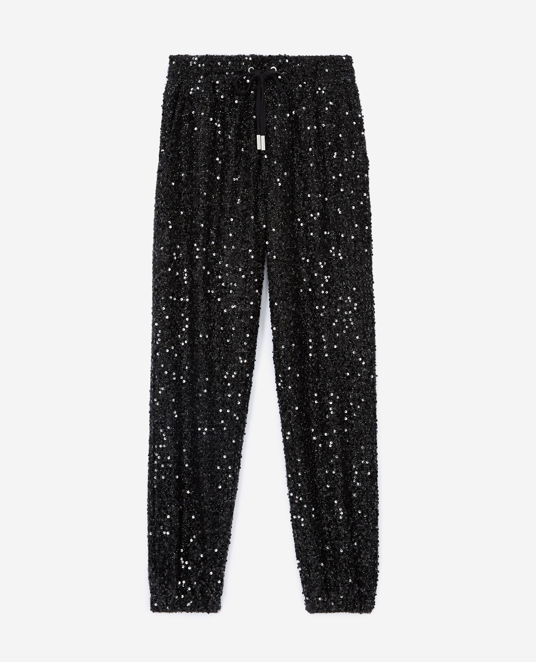 Jogging noir à sequins brodés all-over - The Kooples - Modalova
