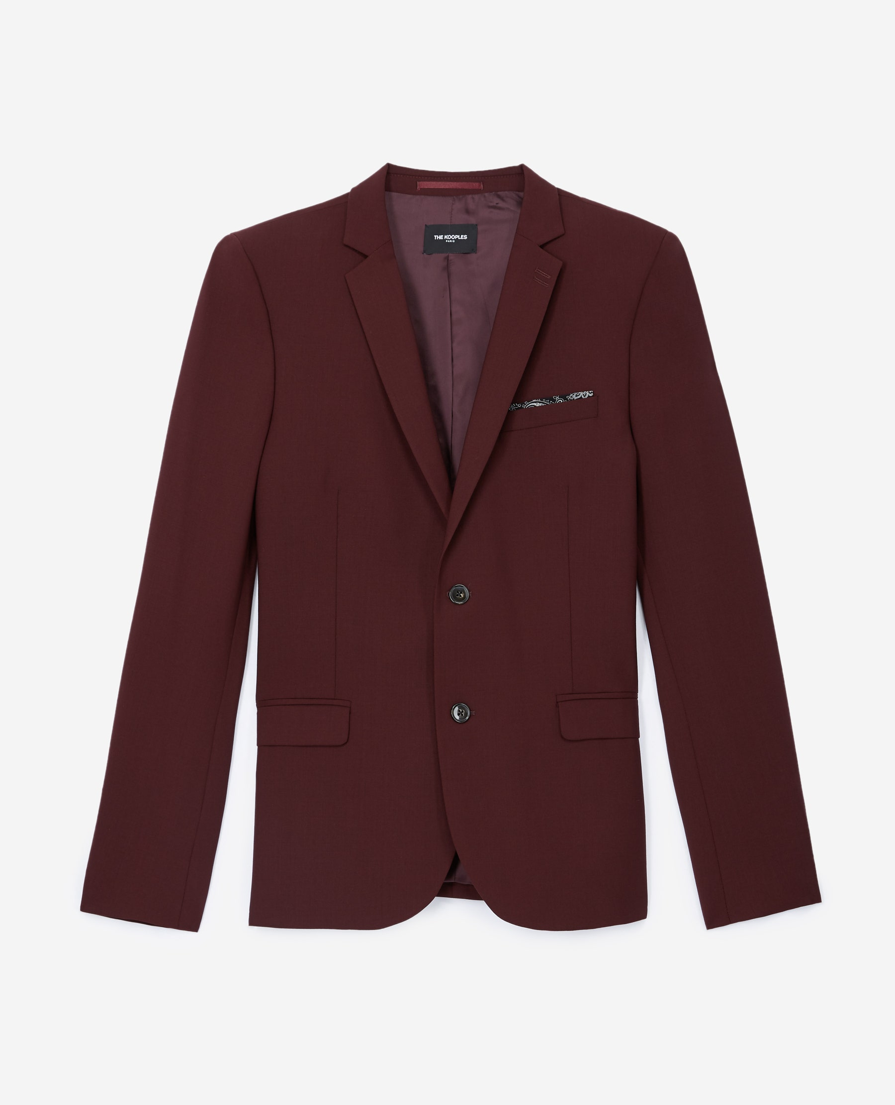 Veste laine bordeaux boutonnée - The Kooples - Modalova