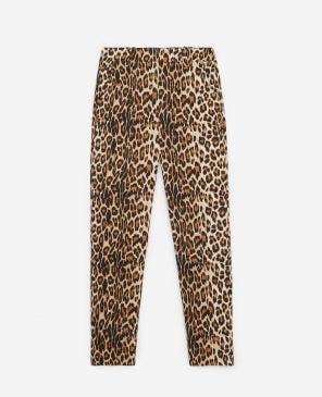 Leopard printed flowing pants