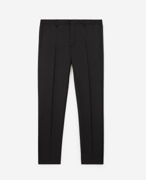 Black suit trousers with satin strip
