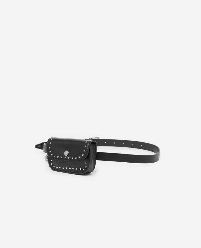 Women's thin leather belt bag