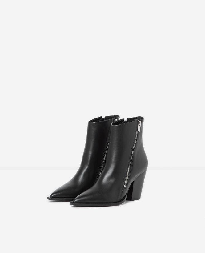Bottines talons noires bout pointu