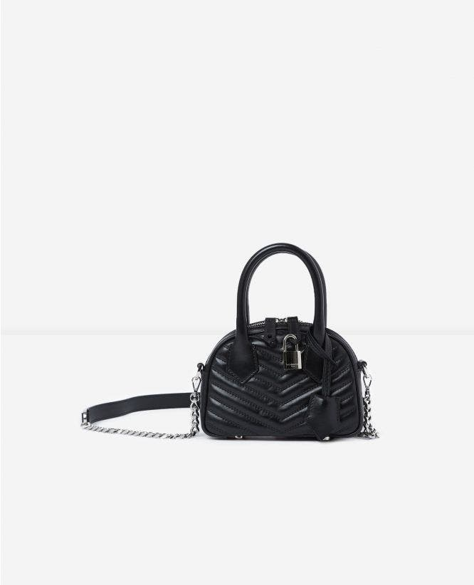 Irina nano black handbag with shoulder strap