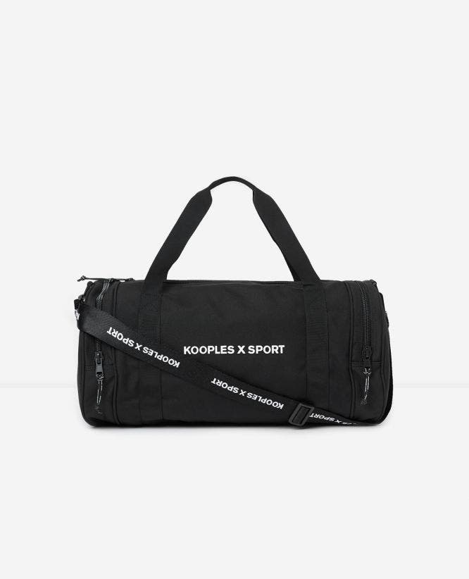 Black fabric gym bag rubber KOOPLES X SPORT logo