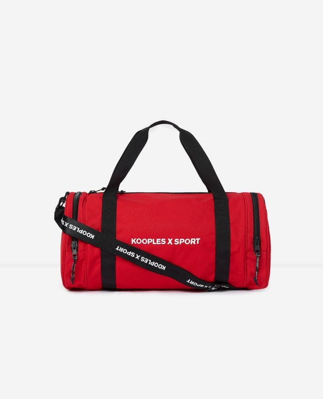 Red bowling bag rubber KOOPLES X SPORT logo