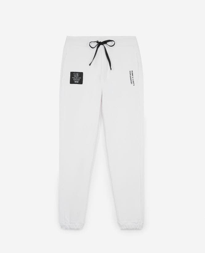 Jogging coton blanc stretch à logo The Kooples