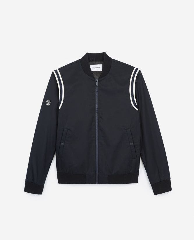 Varsity midnight blue cotton jacket with