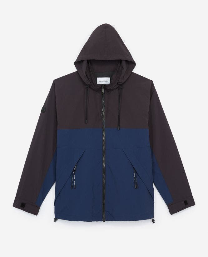 Two-tone windbreaker loose-fitting nylon jacket
