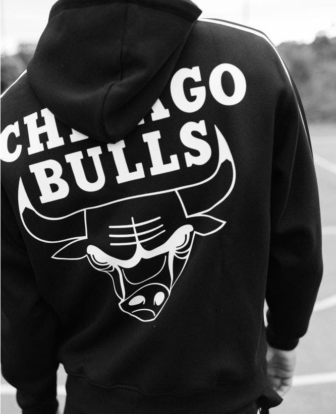 Sweat capuche noir logo Chicago Bulls