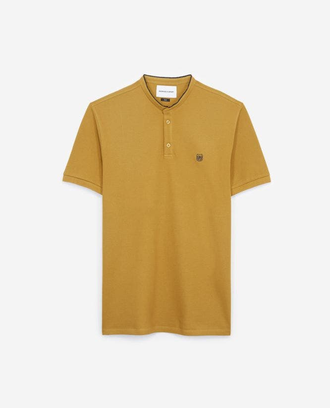 Yellow insignia slim fit polo with buttons