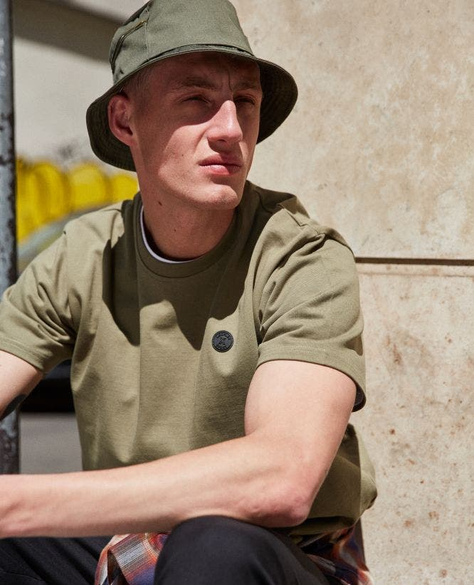 Khaki jersey T-shirt The Kooples x Sport patch