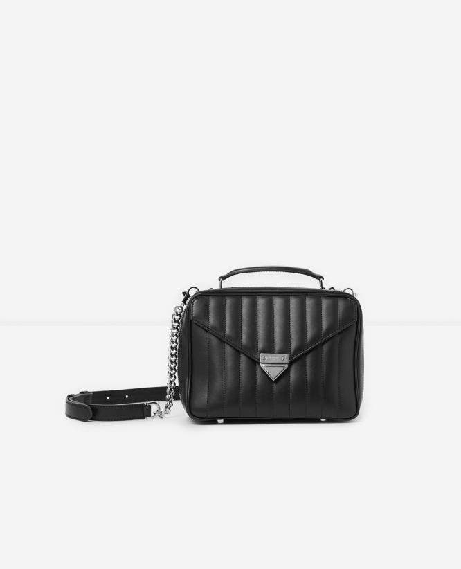 Medium black Barbara bag in quilted leather