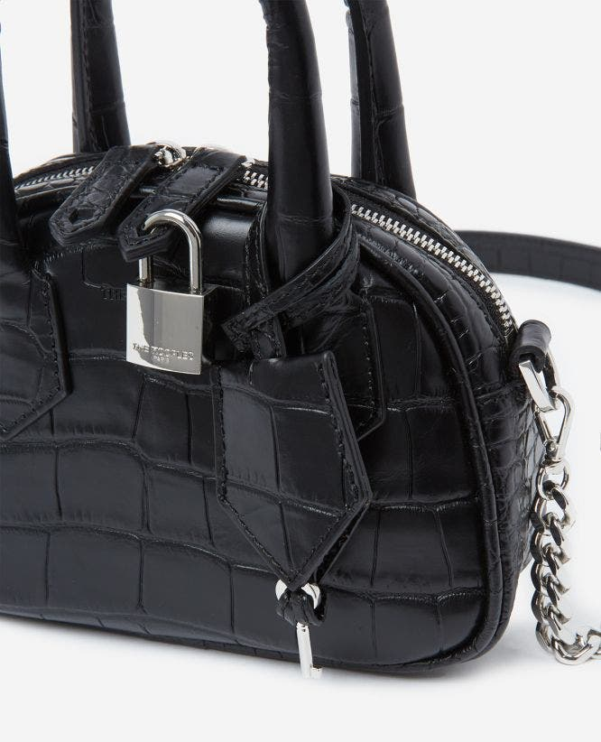 Sac nano Irina by The Kooples croco noir