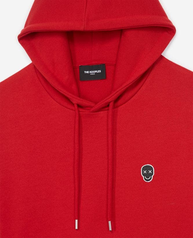 HAPPY SKULL red sweatshirt