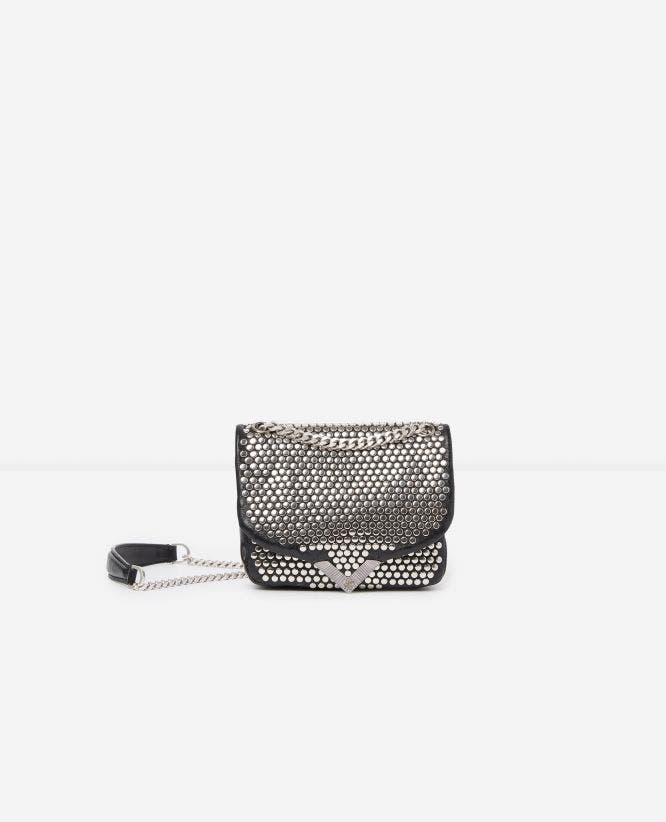 Sac mini Stella by The Kooples studs argentés all-over