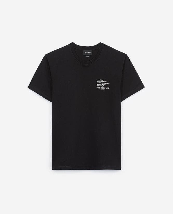 Cotton printed black T-shirt The Kooples