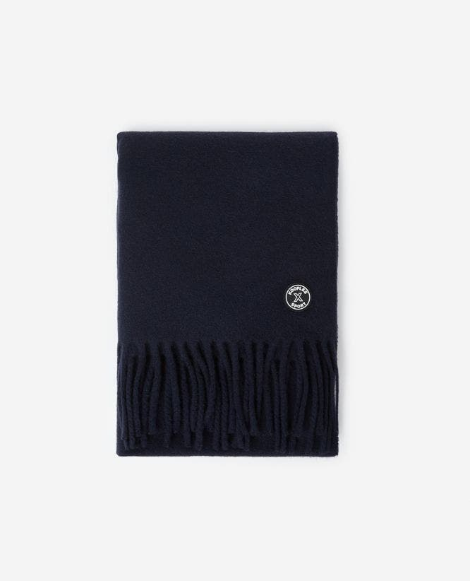 Midnight blue cashmere wool scarf