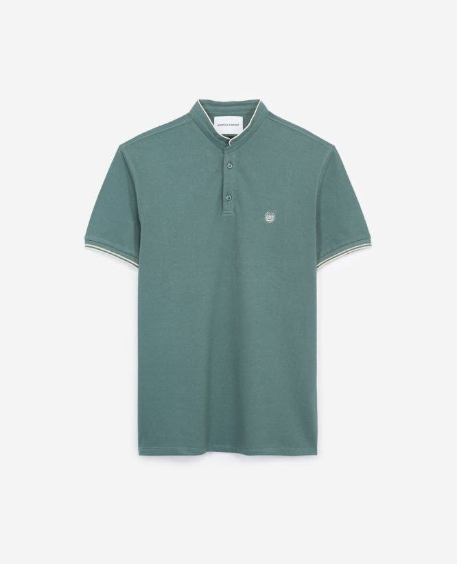 Green insignia slim fit polo with buttons