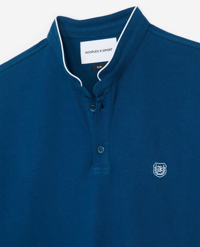 Blue insignia slim fit polo with buttons