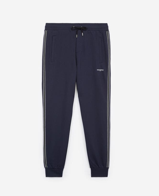 Midnight blue slim fit joggers