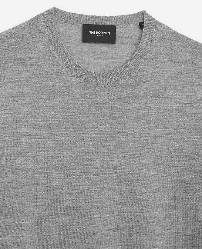 Grey slim-fit wool & cashmere sweater+insert