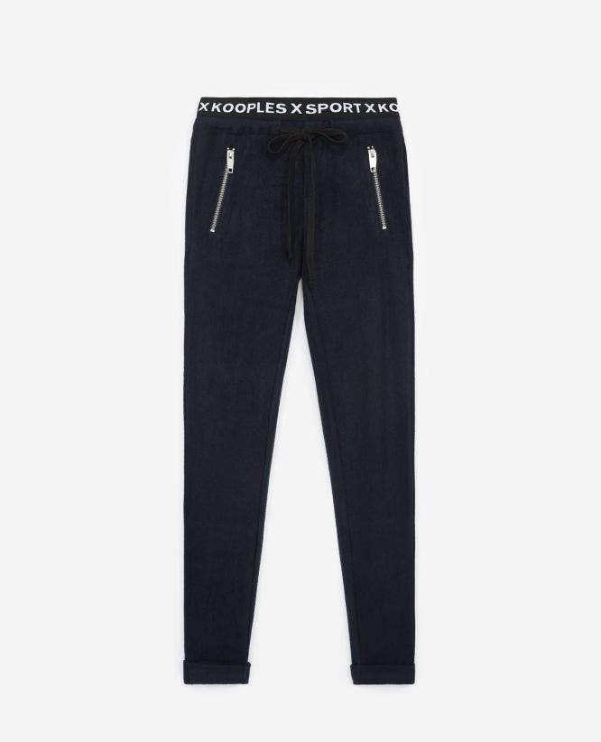 Yoga blue joggers with band