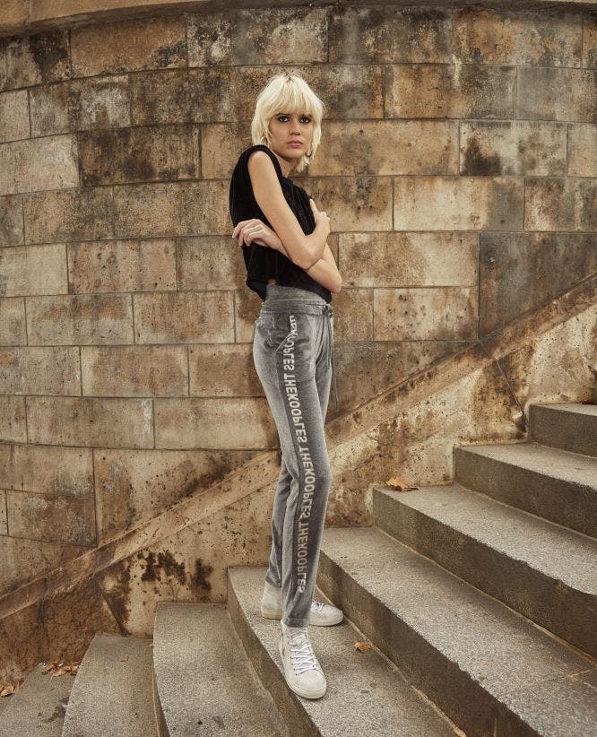 Jogging gris velours The Kooples x Sport