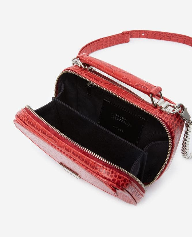 Medium red Barbara bag in crocodile leather