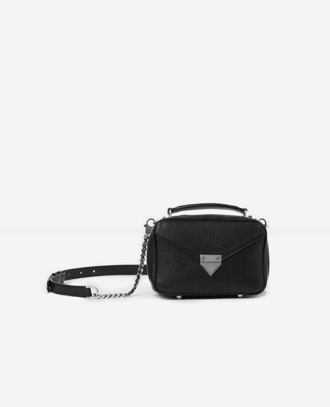 Mini black Barbara bag in smooth leather