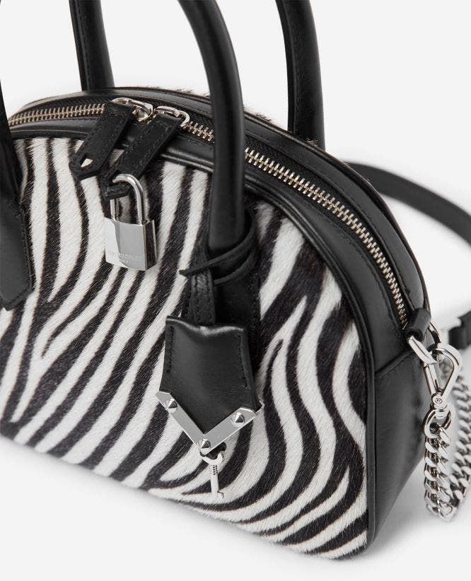 Mittlere Tasche Irina by The Kooples in Zebra-Optik