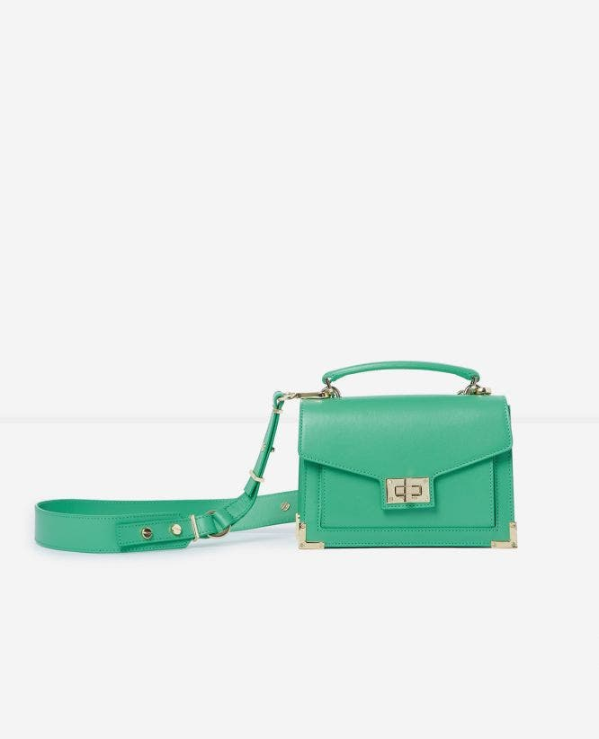 Mini Emily bag in smooth leather with metalware