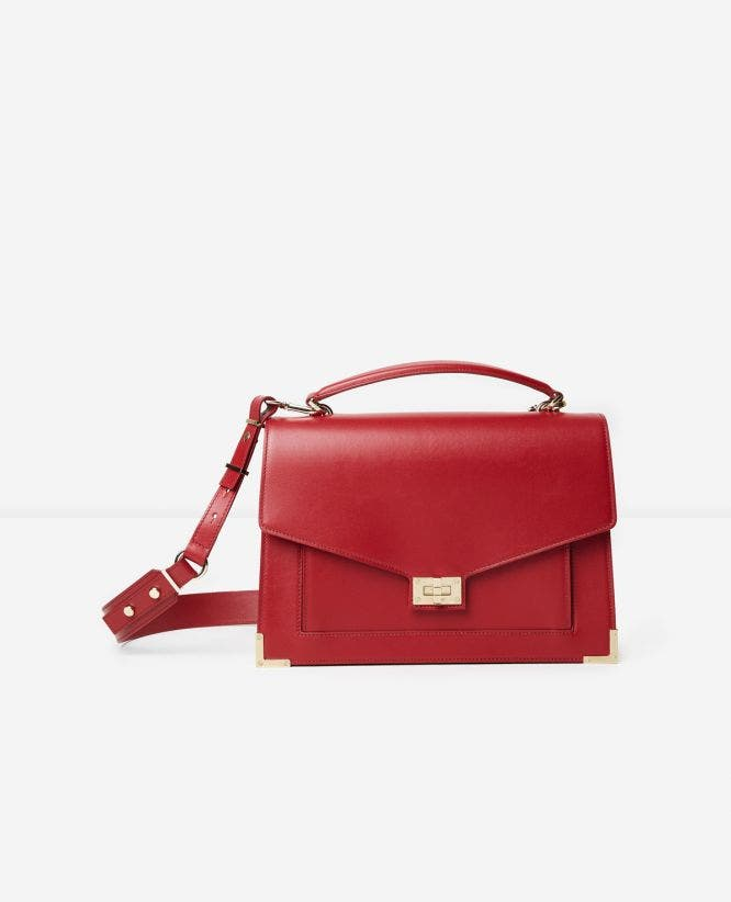 Iconic Emily bag maxi version in carmine red