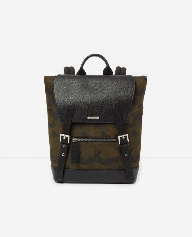 Sac à dos cuir et camouflage graphique Zayn by The Kooples