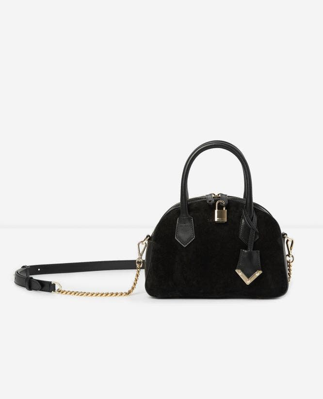 Sac medium Irina by The Kooples daim noir