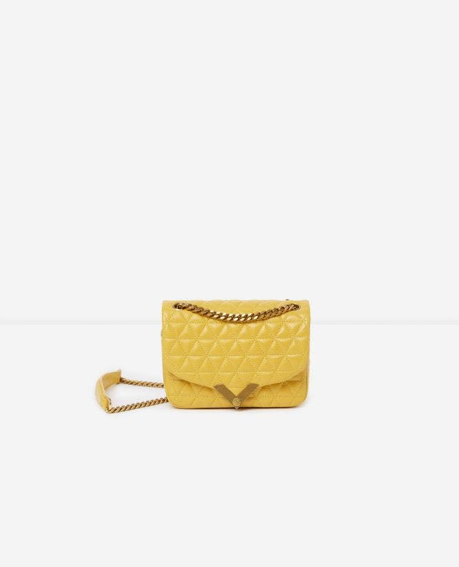 Mini yellow leather bag Stella by The Kooples