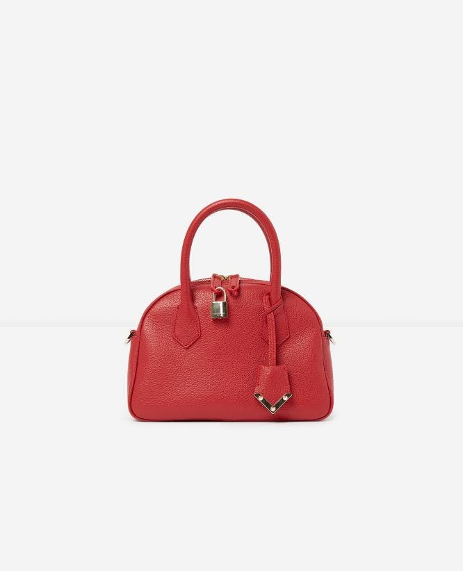 Medium red leather bag Irina by The Kooples