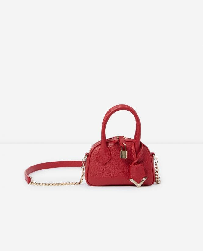 Sac nano Irina by The Kooples cuir rouge