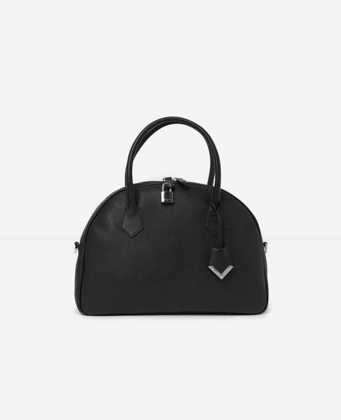 Large black leather bag Irina by The Kooples